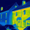 insulated and non-insulated homes seen infra-red