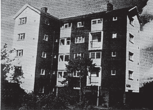Photo of typical Wimpey no-fines flats